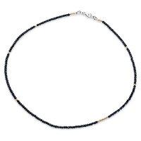【CHRONOクロノオリジナルNecklaceネックレス】オリジナルブラックスピネルw/14KGFネックレス/3.0mm/ロング