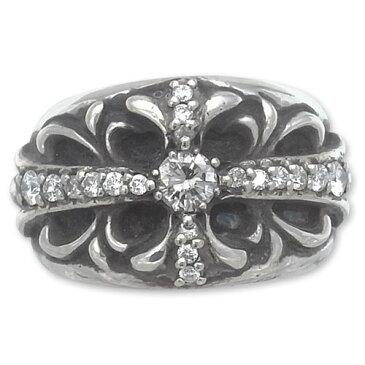 CHRONO Original(クロノオリジナル):Floral Cross Ring w/Pave Diamond(フローラルクロスリングw/パヴェダイヤモンド)