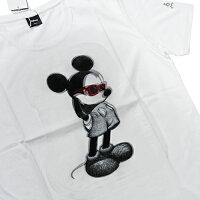 【maxsixマックスシックスTシャツ】3DミッキーTシャツ/ホワイト【タッドポリード限定】