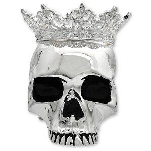 【KING BABY キングベイビー】クラウンドスカルキャンドルホルダー/シルバー【送料無料】