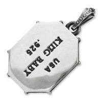 【KINGBABYキングベイビーPendantペンダント】リベットフレームペンダントw/ジェットスカル【送料無料】