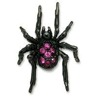 KINGLIMO(キングリモ):TinySpiderEarring/BlackPlatew/Ruby(タイニースパイダーイヤリング/ブラックコーティングw/ルビー)