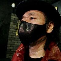 【RizardHeadリザードヘッドSurgicalMaskマスク】カラースムースバックレザーマスク