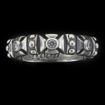 【TRAVIS WALKER DOUBLE CROSS トラヴィスワーカー ダブルクロス Ring リング】フォーミーストーンリングw/ダイヤモンド【送料無料】
