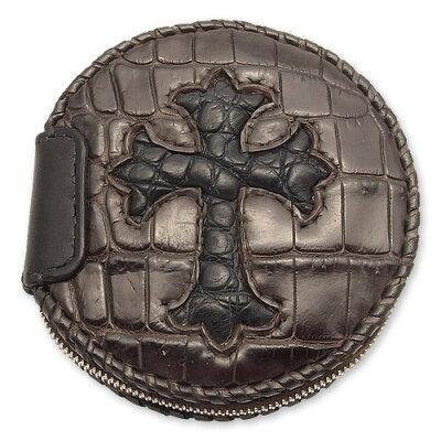 VAN AMBURG LEATHERS(ヴァンアンバーグレザーズ):Coin Purse/Alligator w/Cross Inlay(コイン...