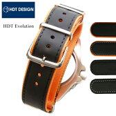 時計 腕時計 ベルト バンド HDT Evolution エボリューション ラバー ナイロン20mm 22mm ブラック オレンジ