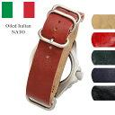 時計 腕時計 ベルト バンド HDT DESIGN Oiled Italian NATO オイルド イタリアンレザー 革 20mm 22mm ブラック ブラウン ネイビー ブルー レッド