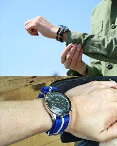 ◆『NATOタイプ・ナイロンストラップ』腕時計用・時計ベルト・時計バンド全20色◆18mm20mm22mm【あす楽対応】【送料無料】【メンズ】【ミリタリー】【レディース】