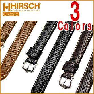 ◆ Rivetta HIRSCH Hirsch Rivett structured-leather watch, belt watch, watch band 18 mm 20 mm22mm