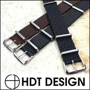 ◆HDT NATO レザー耐水時計ベルト・腕時計用・時計バンド 18mm20mm22mm【あす楽対応】【送料無料】【メンズ】【革】