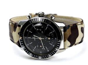 ★HDTAlligatorCamouflagePrintアリゲーターカモフラージュ腕時計用・時計ベルト・時計バンド20mm22mm【対応】【送料無料】【メンズ】