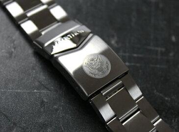 時計 腕時計 ベルト 時計バンド ミリタリーウォッチ アメリカ軍 MARATHON Divers Bracelet U.S. Seal マラソン ダイバーズ アメリカ合衆国章ブレスレット 20mm 316Lステンレス