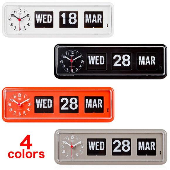 【お取り寄せ】置き時計 置時計 掛け時計 掛時計 TWEMCO トゥエンコ BQ-38 インテリアクロック ブラック グレー オレンジ ホワイト