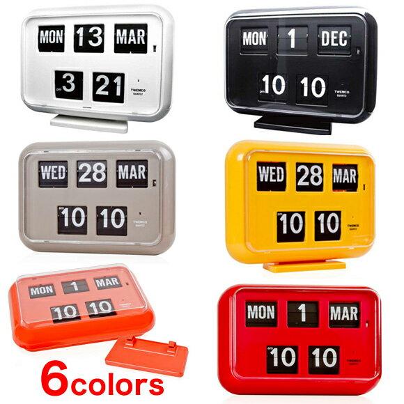 置き時計 置時計 掛け時計 掛時計 TWEMCO トゥエンコ QD-35 インテリアクロック ブラック グレーイエロー オレンジ ホワイト