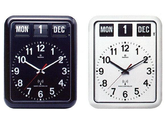 置き時計 置時計 掛け時計 掛時計 TWEMCO トゥエンコ RC-12A インテリアクロック ブラック ホワイト