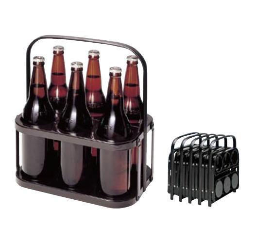 ボトルキャリア (6本用) (ポリプロピレン)【ボトルキャリア】【ビール運び】【瓶ビール】【宴会用品】【業務用】