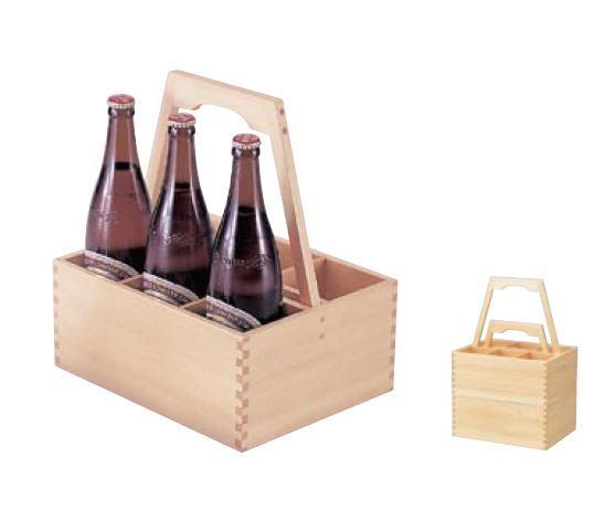白木ビール運び (6本用)【ボトルキャリア】【ビール運び】【瓶ビール】【宴会用品】【業務用】