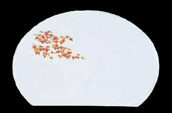 尺3半月四季懐石まっと(50枚入) 紅葉【敷紙】【会席紙】【会席マット】【業務用】
