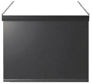 LEDライト付メッセージボード黒MSBD-456