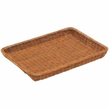 籐製 浅型パンカゴ 42号 16-732B 茶【業務用】【籐かご】【パンかご】
