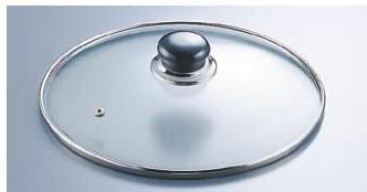 万能アルミ鍋用ガラス蓋 AJ-24F 24cm用 【ちり鍋 チリ鍋】【料理演出用品】【和食卓上鍋 鍋用小物】【業務用】