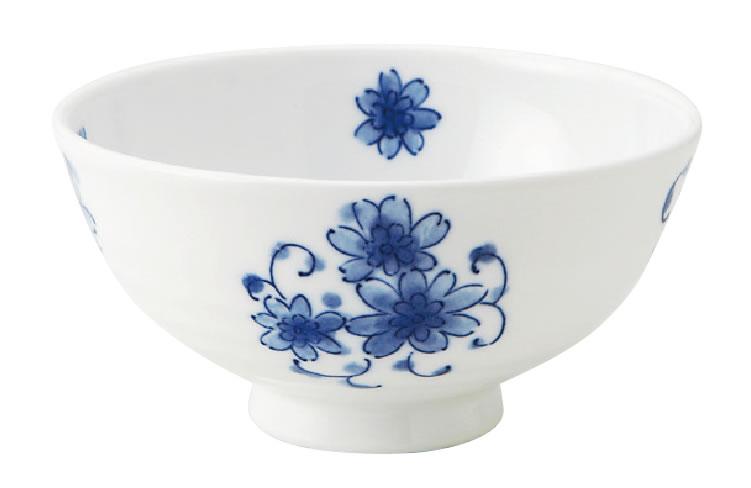 CU 六兵衛茶碗 藍染唐草(83JC6KO)