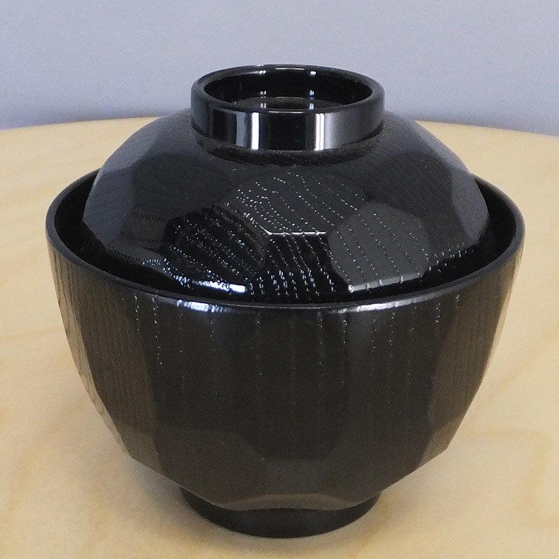 耐熱ニュー3.2寸亀甲小吸椀 黒