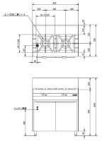 【送料無料】新品!オザキガステーブル(2口)(キャビネット付)W800*D550*H800(mm)OZ80-55DSP[厨房一番]