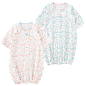 ee7da16f386d4 50-60cm 新生児 ベビー服 ツーウェイオール春 夏 女の子 花柄 出産祝.
