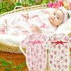 スウィートガール新生児ベビー服女の子カバーオールツーウェイオール2WAYオール冬秋春出産祝いギフトベビー服赤ちゃんドレス花柄ピンクアイボリーレッド5060長袖前開きP5231Eチャックルベビー