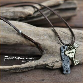 Key & plate ★ leather pendant!
