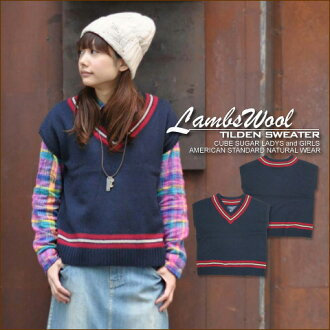 SALE Lamb's wool brushed ★ チルデンフ wrench knit!
