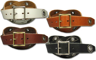 Studs & eyelet belt
