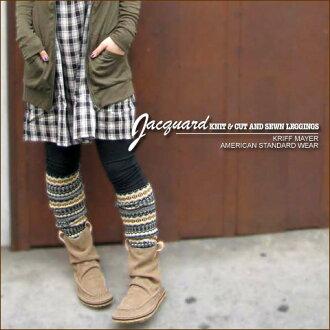 Jacquard ★ knit toggle leggings