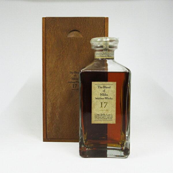 【レトロ:特級従価表示】ザ・ブレンド・オブ・ニッカ 17年 45度 660ml (専用木箱入り):中央酒販