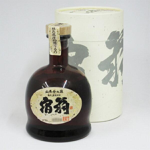 【レトロ】宿扇(しゅくおう) 一回忌 吟香黄麹 43度 720ml (専用BOX入り):中央酒販