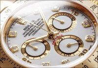 ロレックスデイトナRef.116528イエローゴールドダイヤモンド入りホワイトダイアル2002年Y番【中古】【メンズ】