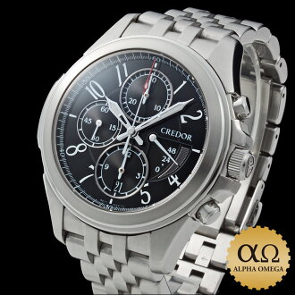 セイコークレドール Pacifique chronograph Ref.6S77-00B0, GCBK989 black dial-2003