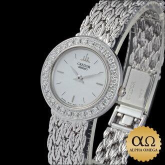 Seiko credor prestige Ref.1E70-2080 white gold ダイアモンドベゼル 1993