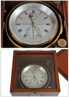 フリードリッヒマリンクロノメータードイツハンブルグ1942年置時計【】【アンティーク】【保証無し】