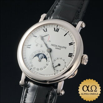 Patek Philippe Calatrava officer Pete complication Ref.5054 white gold 1999