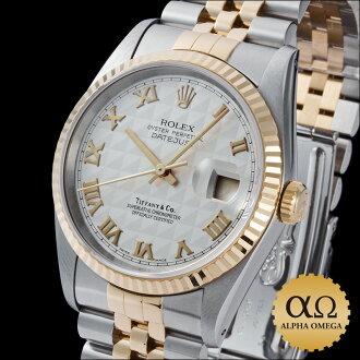 Rolex / Tiffany & co-Datejust Ref.16233 duo SS/YG アイボリーピラミッドローマン dial-1993