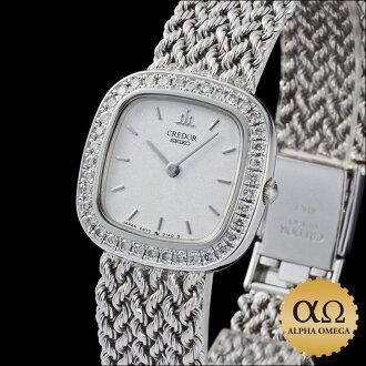 Seiko credor prestige Ref.4N70-5010 GTAA989 White Gold Diamond Bezel, 1990