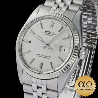 Rolex Datejust watch Ref.1601 white gold bezel silver mosaic dial-1972