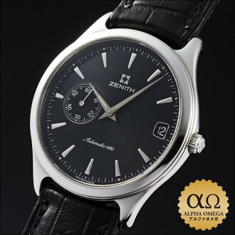 6 Zenith elite class Ref.90/01.0040.680 stainless steel black dial see-through back 1995