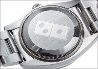 ロレックスエアキングRef.114200ドミノ・ピザ限定モデルシルバーアラビアダイアル2013年G番【】【メンズ】