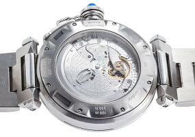 カルティエパシャグリッド38mmRef.W31040H3ステンレスシースルーバック2000年代【中古】【ヴィンテージ】【メンズ】