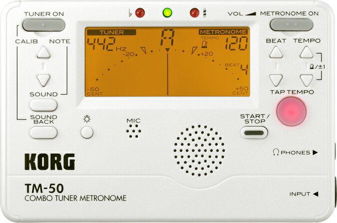 KORG TM-50-PW Metro-tuner-Korg metronomes & tuners
