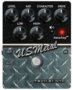 【送料無料】SANSAMP/Tech21 US Metal ギターエフェクター アンプシミュレーター オーバードラ...