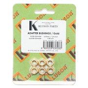 KLUSONBUSHINGSET6.4-10.0/Goldギターペグ用ブッシュ6個セット